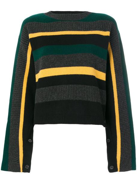 PORTS sweater striped sweater women wool