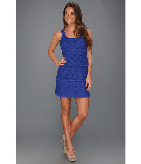 Laundry by Shelli Segal Multi Tiered Lace Tank Dress Jet Blue - Zappos.com Free Shipping BOTH Ways