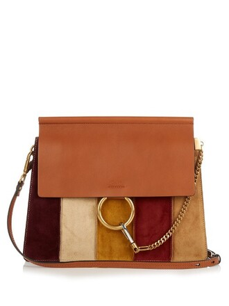bag shoulder bag leather suede tan