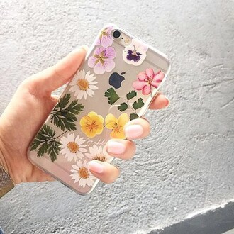 phone cover yeah bunny dry flowers transparent floral