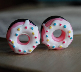 jewels cool accessories accessory wow pink ear plug donut