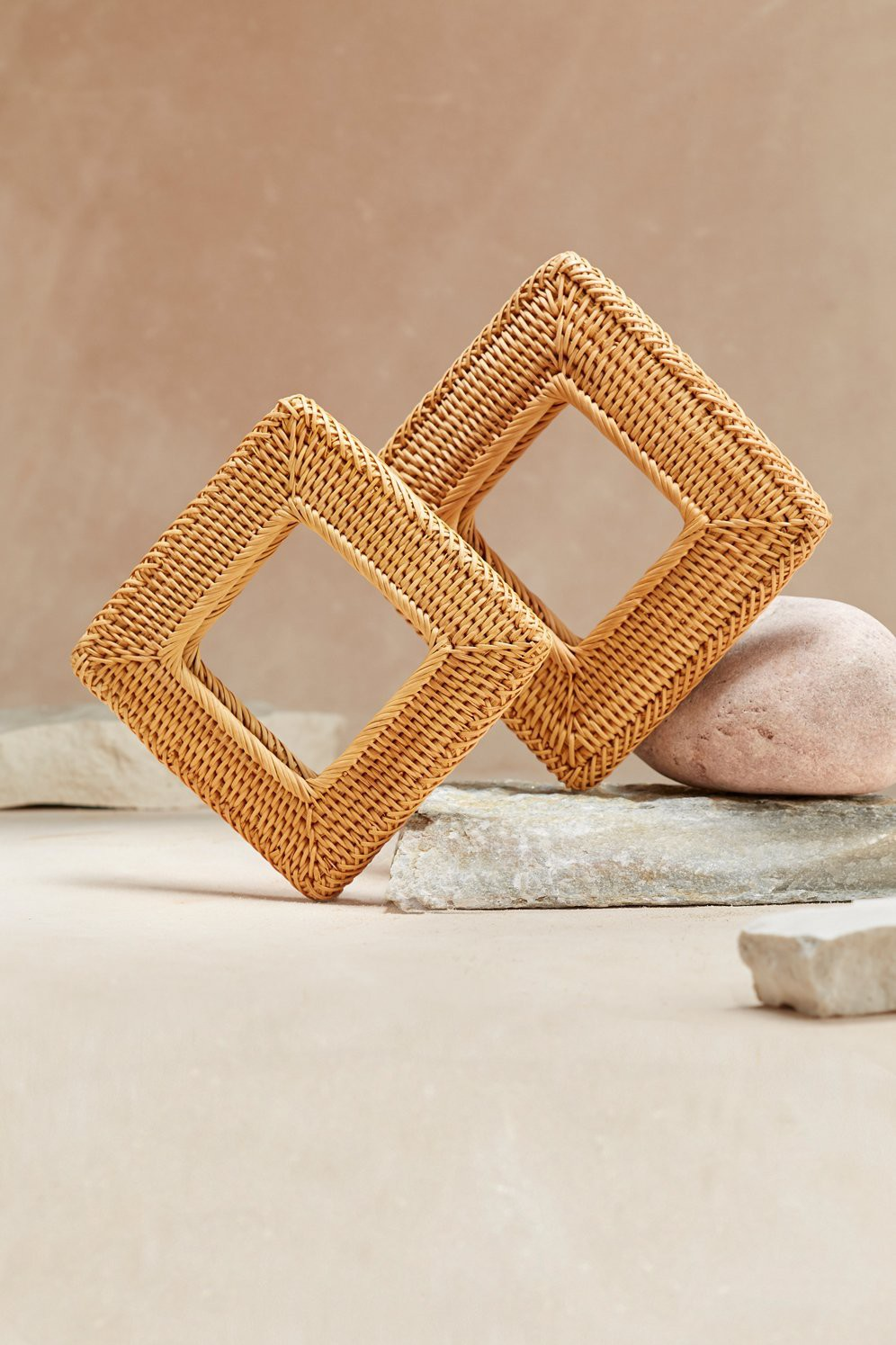 Cult Gaia Rattan Square Bangle - Natural                                                             $ 60.00 USD