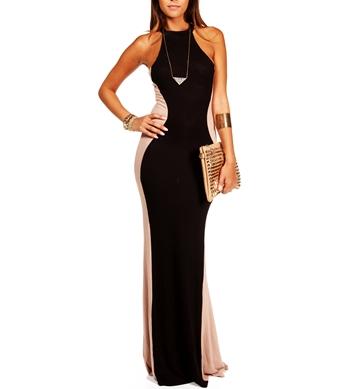Blacktaupe maxi dress