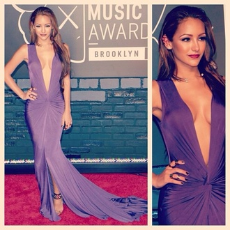 dress melanie iglesias beautiful purple sexy