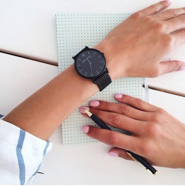 jewels watch. watch bag black watch