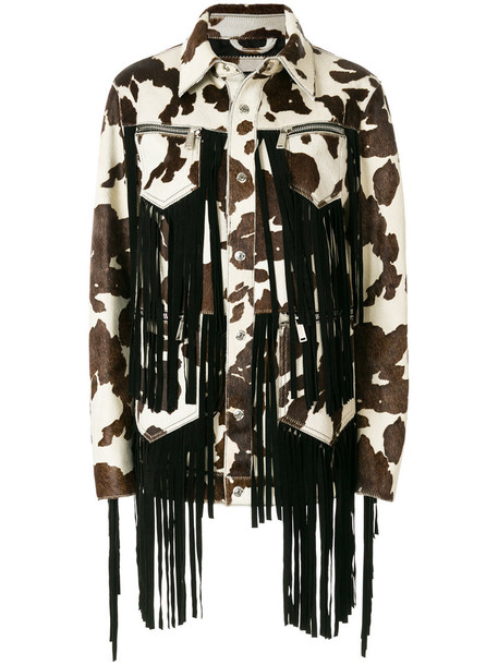 Dsquared2 jacket hair women cotton brown cow