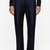 christopher kane navy double tuck silk_satin trouser
