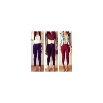 leggings fashion tumblr outfit zipper causal style crop tops shirt shoes red lime sunday