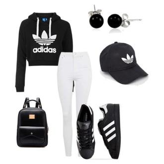 pants black adidas adidas superstars