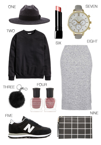 hello fashion blogger sweater make-up jewels skirt shoes bag