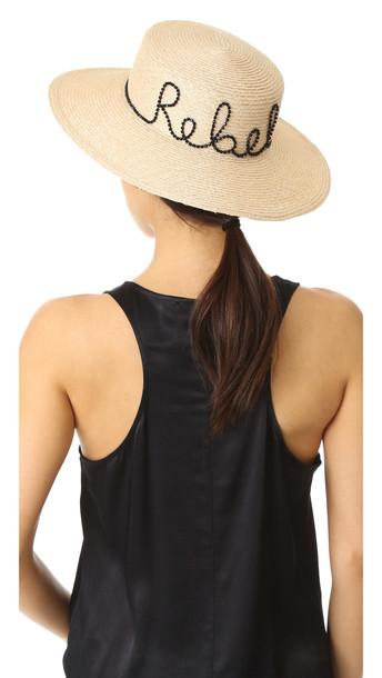 cda0fe4a52c Eugenia Kim Colette Rebel Hat - Natural - Wheretoget