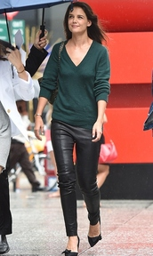 sweater,fall outfits,katie holmes