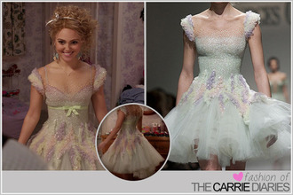 dress ballet dress georges chakra skater dress the carrie diaries carrie bradshaw pastel