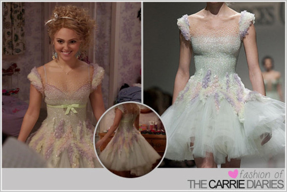 carrie bradshaw dress ballet dress georges chakra skater dress the carrie diaries pastel