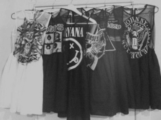 dress black white dress rock nirvana pink floyd guns and roses johnny cash short