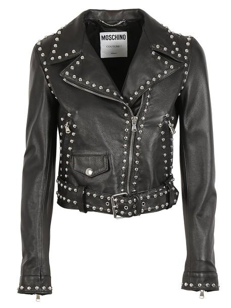 Moschino jacket biker jacket studded