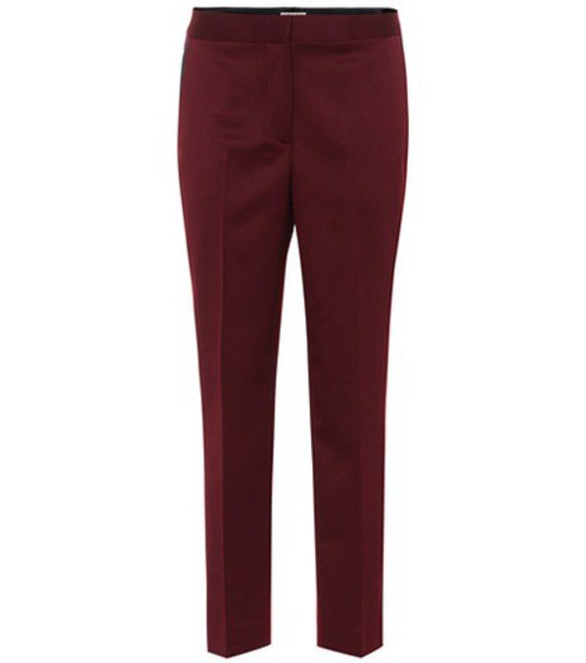 Bottega Veneta wool red pants