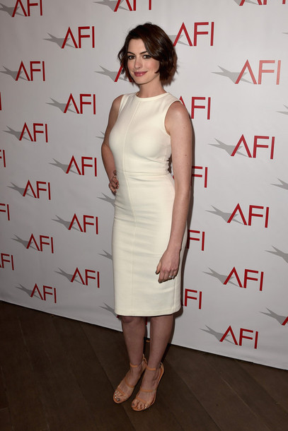 dress anne hathaway sandals off-white shoes