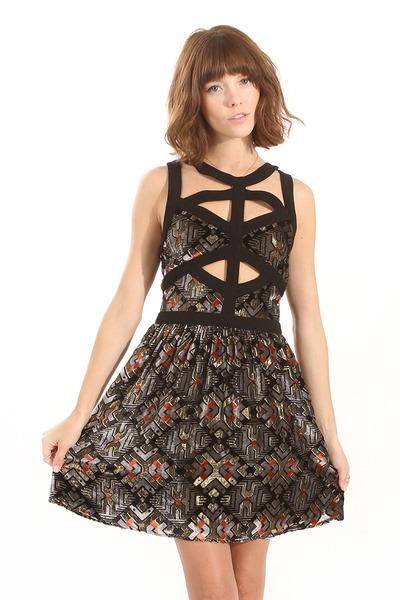 Stained glass velvet dress · trendyish · online store powered by storenvy
