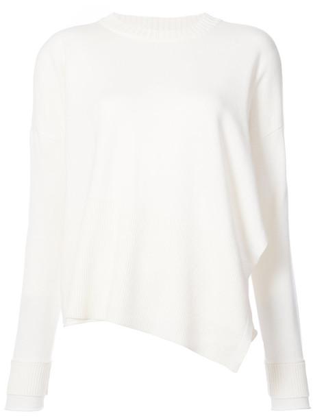 DEREK LAM 10 CROSBY jumper women white cotton wool sweater