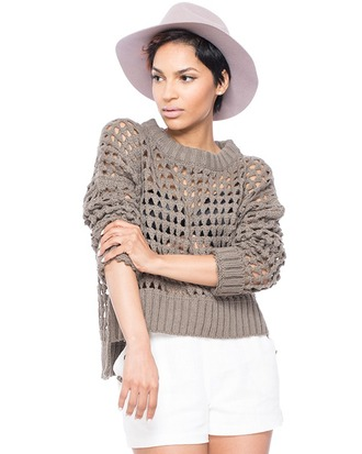 sweater knitted sweater crochet crochet sweater taupe taupe sweater