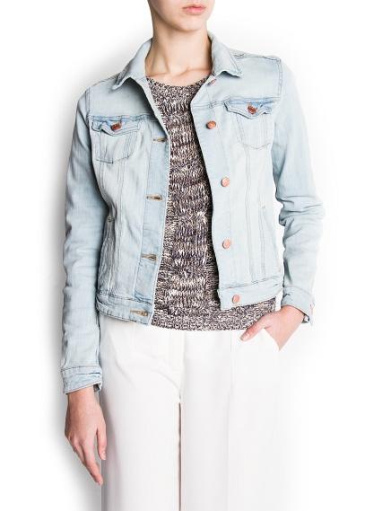 MANGO - CLOTHING - Jackets - Bleached denim jacket