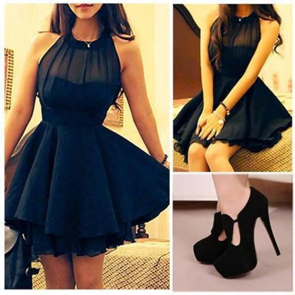 dress black dress black shoes
