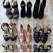 shoes,belle xo,heels,wedges,stilettos,black,gold,blush,pink,tie up,winter outfits,fall outfits,spring,summer,casual,fancy,elegant