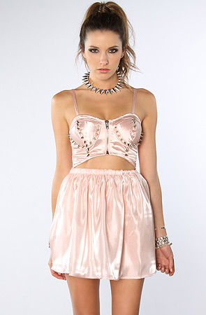 UNIF Dress Cutout Pink -  Karmaloop.com