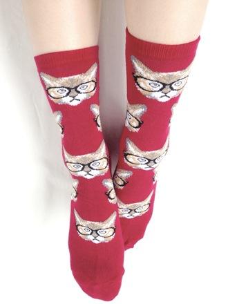 underwear socks women cute cats style bag