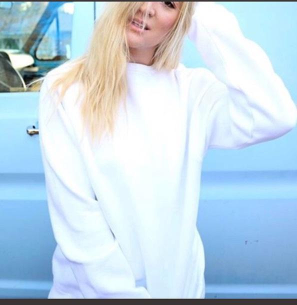 sweater sweatshirt white cute cute sweaters white sweater