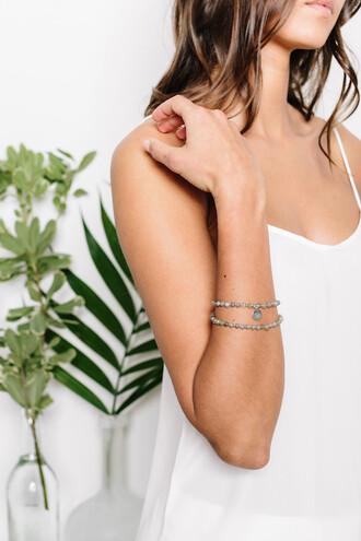 jewels bracelets trendy silver fashion style cool bikiniluxe jewelry tess and tricia beaded bracelet designer bracelet handcrafted lotus flower bracelet silver bracelet
