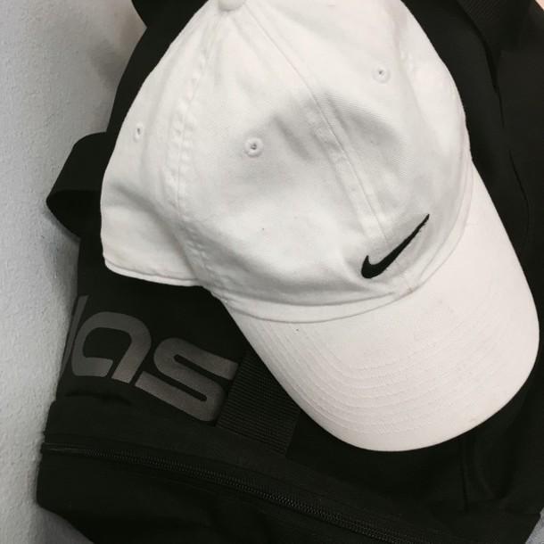 eed92853796 ... discount hat tumblr nike sportswear streetwear summer cap black bag  duffle bag fc674 1ae34