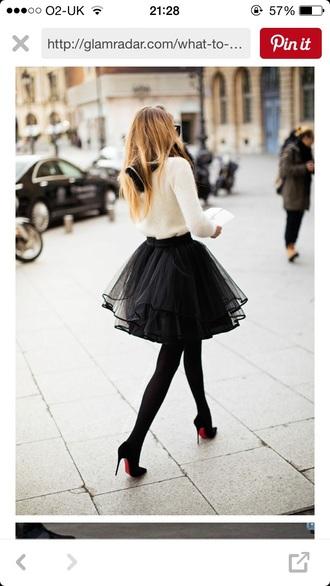 skirt black black skirt tutu mini skirt midi skirt shoes