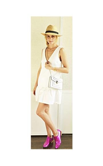 dress olivia palermo shoes bag hat