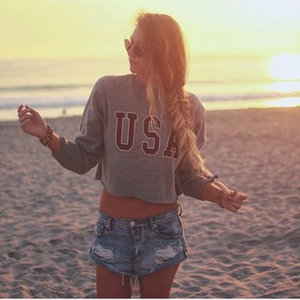 sweater tumblr outfit usa usa outfit summer outfits grey red grey&red love grey hipster sweater hipster outfit grey outfit love sweater