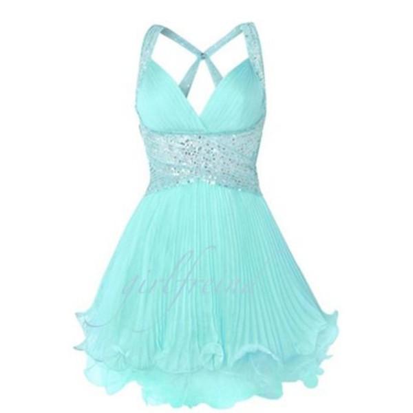 Dress ice blue prom dress elegant cute chiffon dress for Oxiclean wedding dress