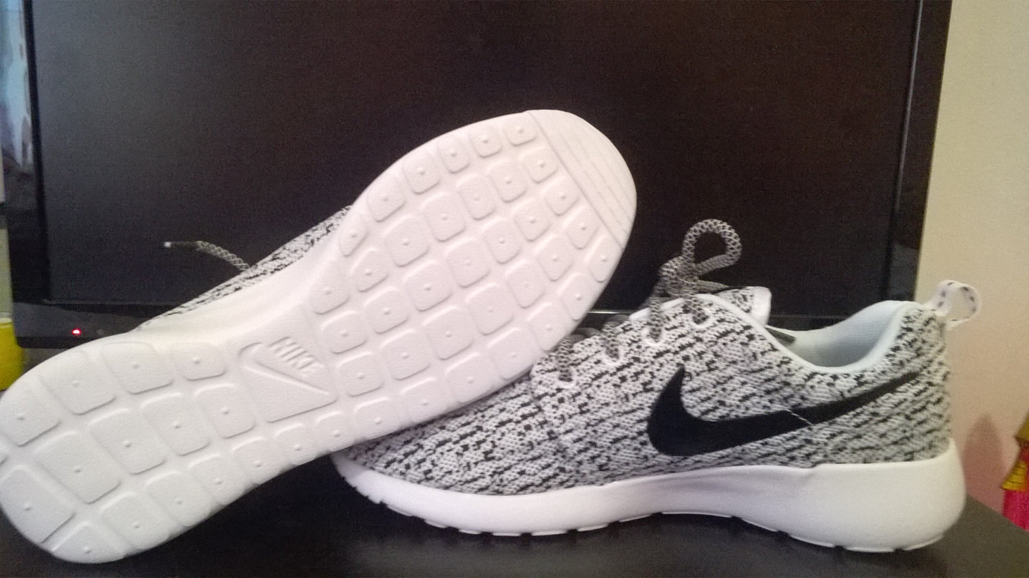 newest collection c8630 e921e ... wholesale custom nike roshe yeezy boost 350 run sneakers athletic  running mens gray white color shoes
