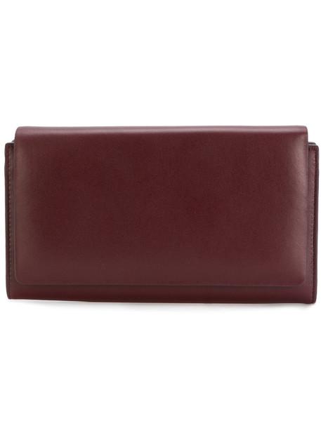 Aesther Ekme - foldover top wallet - women - Lamb Skin - One Size, Red, Lamb Skin