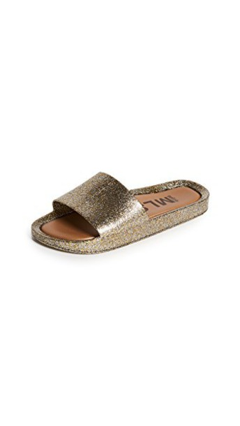 Melissa beach gold shoes