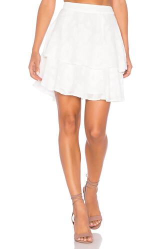 skirt rose white
