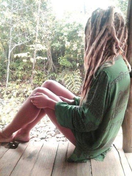 comfortable shirt dreads hippie nature chillin