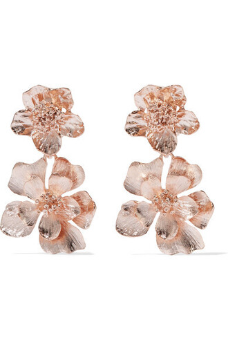 rose gold rose earrings gold jewels