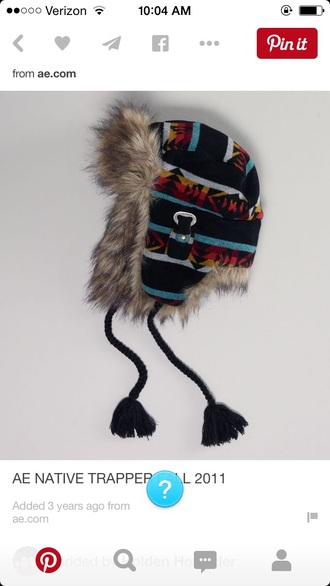 hat winter outfits warm hipster cute patterned