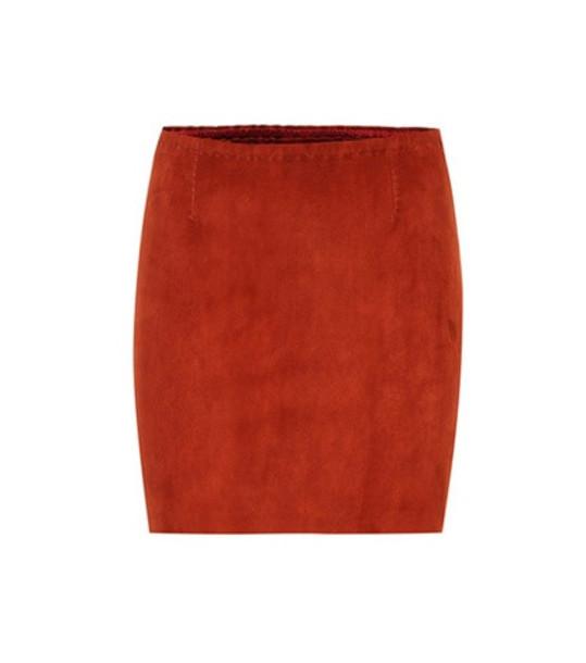 Stouls Rita suede miniskirt in brown