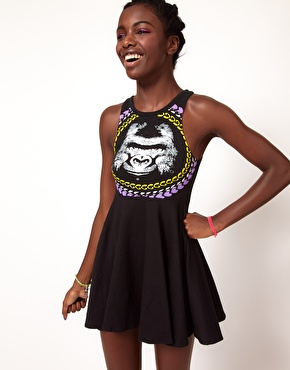 Fairground | Fairground Gorilla Skater Dress at ASOS