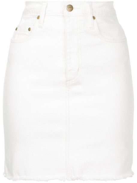Nobody Denim skirt women spandex white cotton