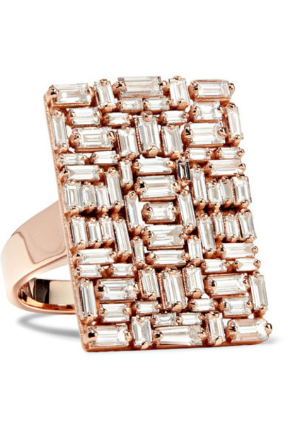 Suzanne Kalan diamond ring rose gold rose ring gold jewels