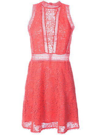 dress mini dress mini sleeveless women cotton purple pink crochet