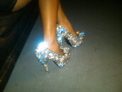 shoes,heels,sparkle,shiny,cute